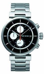 Issey Miyake SILAY001 - Reloj cronógrafo unisex, correa de acero inoxidable color negro