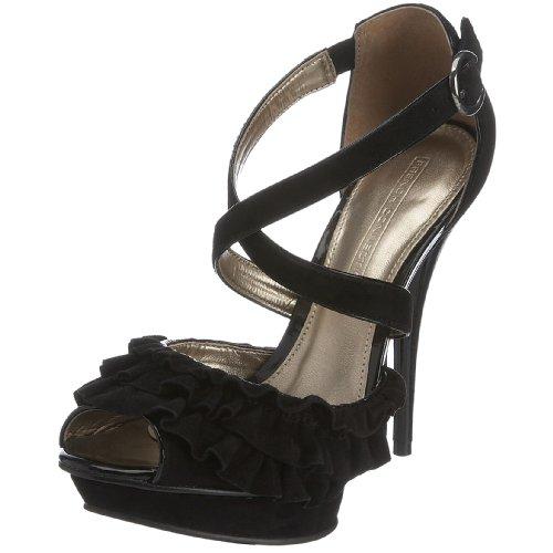 French Connection Women's Jess Heeled Sandal Black 0635600029 6 Uk