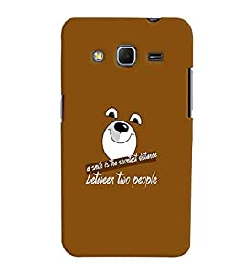 Fuson Meaningful Text Back Case Cover for SAMSUNG GALAXY CORE PRIME - D3977