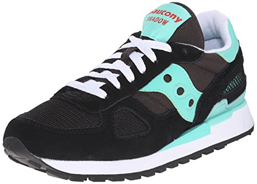 Saucony Shadow Original Scarpe Low-Top, Donna, Nero (Black/Aqua), 39