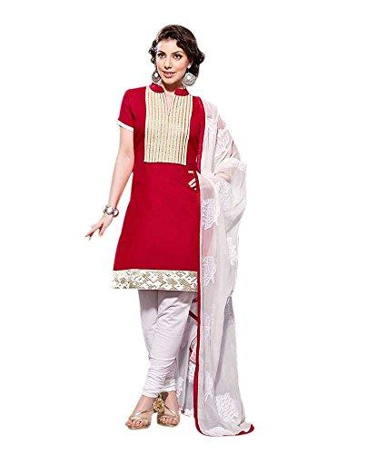 Maya Makfab Maya Chanderi Suit (Multicolor)