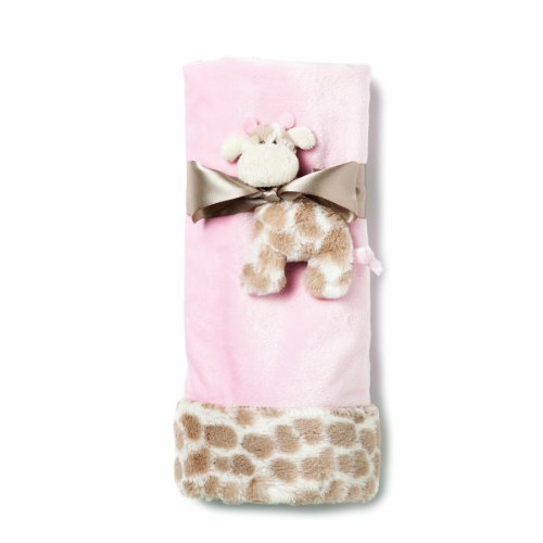 Nat and Jules Blanket and Giraffe Rattle Set, Pink