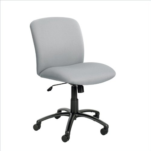 """Safco Big And Tall Chair - Mid-Back - 18-1/2 -22-1/2"""" Seat Height - Gray - Gray front-196840"""