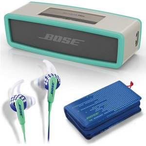 Bose Soundlink Mini Bluetooth Speaker Mint & Freestyle In Ear Earbuds Indigo - Bundle