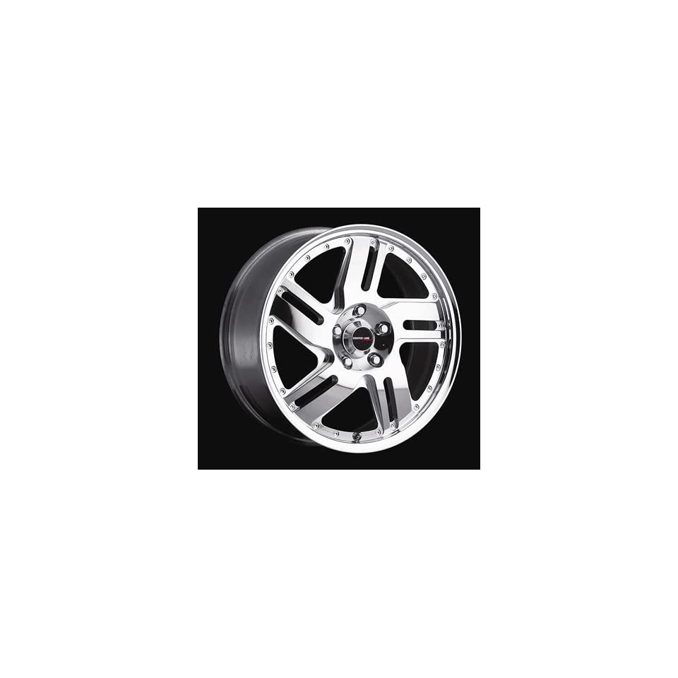 Center Line Wheels 3435707539 Wheel, Piranha, Aluminum, Polished, 15 in. x 7 in., 5 x 100mm Bolt Circle, 5.671 in. Backspace, Each