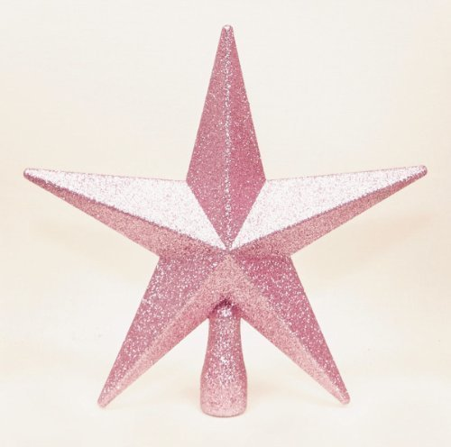 Pink with Glitter Finish Tree Topper