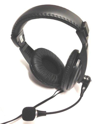 MQ PC Stereo Gamer Gaming Spiele Headset Kopfhörer gepolstert Mikrofon Skype VoIP Laptop, PC