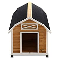 Medium Barn Dog House Pet Squeak