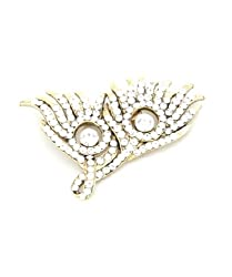 Trinketbag Peacock feather brooch Golden for women