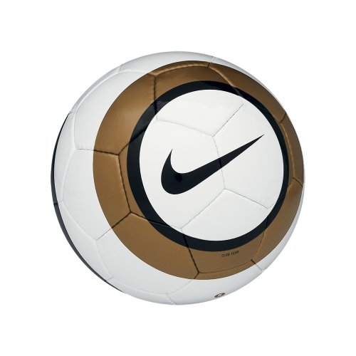 Nike Club Team Soccer Ball, White, Bronz, 5
