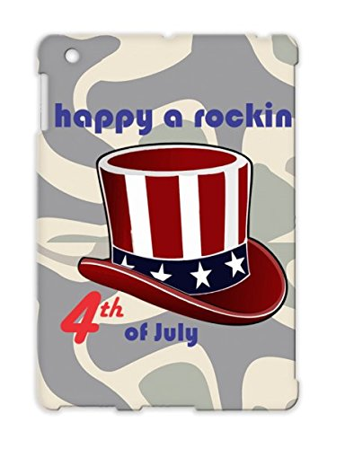 Happy A Rockin Drop Resistant Cover Case For Ipad 2 Red Art Design Independence Day Spirit Graffiti Freedom Hat Uncle Sam Cool Usa