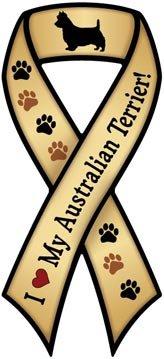 リボンマグネット『オーストラリアン・テリア大好き』Australian Terrier