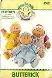 Butterick 3562 Cabbage Patch Kids Preemies Clothes, Dress, Panties, Pinafore, Shoes, Bonnet, Sewing Pattern Vintage