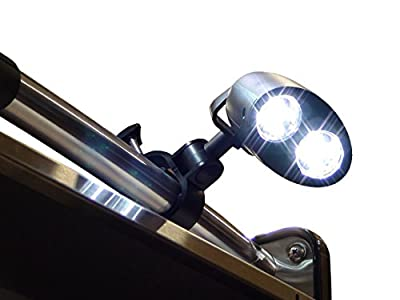 GRILL LIGHT - Latest model With 360° Rotating Head, Easy To Install, 3 Intensity Light W/Touch Sensitive On/Off, BATTERIES, SCREWDRIVER and BASTING BRUSH INCL. Best BBQ Accessory, Great gift idea