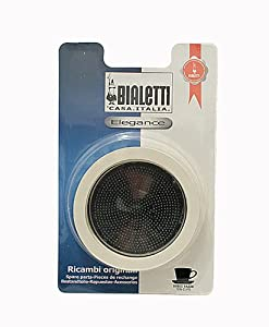 Bialetti 10-cup Stainless Replacement Gasket / Filter Pack from Bialetti