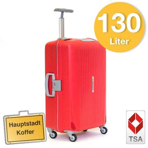 Hartschalen Koffer Rot/Grau Matt Hochglanz max.130