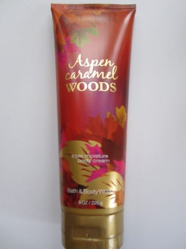 Bath Body Works Aspen Caramel Woods 8.0 oz Triple