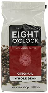 Eight O'Clock Coffee, Original Whole Bean, 12-Ounce Bag (Pack of 6) by Eight O Clock Coffee Company