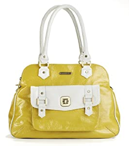 timi & leslie Sophia 7-Piece Diaper Bag Set, Lemon Yellow/Shadow White