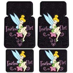 Tinkerbell Fearless Flirt Floor Mat set Front/ Rear 4 pcs. (Tinkerbell Car Floor Mats compare prices)
