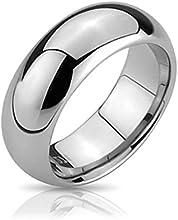 Bling Jewelry Anillo Tungsteno cómodo Anillo de Boda 6mm