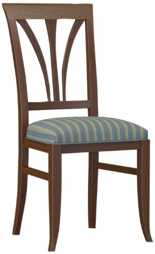 Selva SPA Epoca Mirabeau 8029853000038 Wood Chair Classic and Elegant with Walnut Finish, 47 x 49/ 98/ 50 cm, Brown