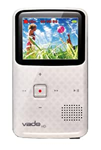 Creative Labs Vado HD Pocket Video Camcorder 3rd Generation,120 Minutes (White) - NEWEST MODEL