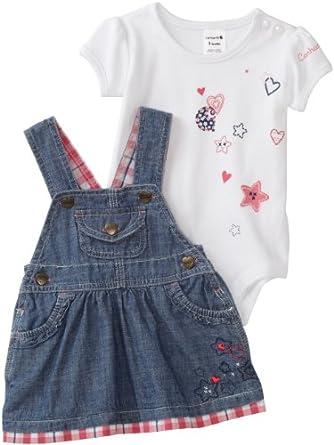 Amazon Carhartt Baby girls Infant Jumper Set