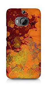 Amez designer printed 3d premium high quality back case cover for HTC One M9+ (Abstract paint color spray)