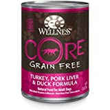 Wellness CORE Natural Grain Free Wet Canned Dog Food, Turkey, Pork Liver and Duck Recipe, 12.5-Ounce (Pack of 12)