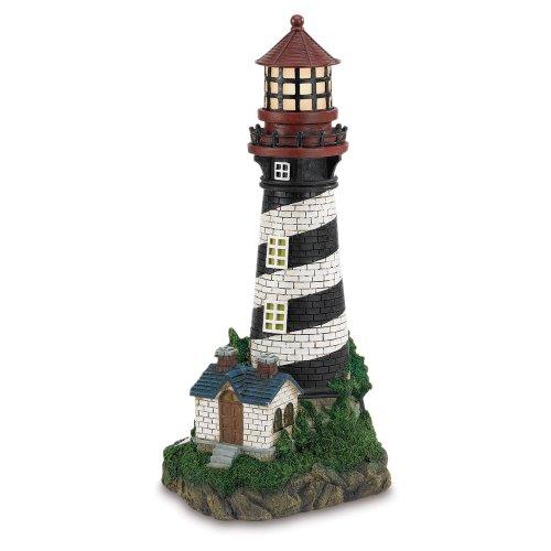 Gifts decor solar powered outdoor garden lighthouse ebay - Garden solar decorations ...
