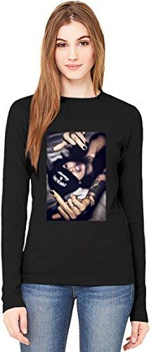 Cocaine & Caviar Girl Brooklyn West Coast Fuck You T-Shirt da Donna a Maniche Lunghe Long-Sleeve T-shirt For Women| 100% Premium Cotton| DTG Printing| Small