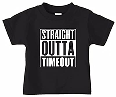 Cute Funny Straight Outta Timeout Compton Movie Parody Toddler T-Shirt