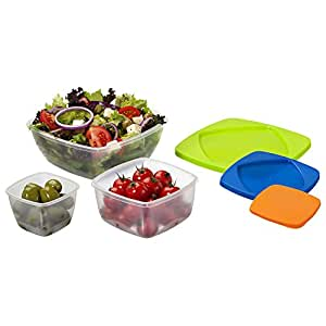 Amazon Com  X Stacking Sandwich Box Nested Storage Lunch Boxes