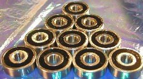 10 Wheel Bearing 6203-2RS 17x40x12 Sealed