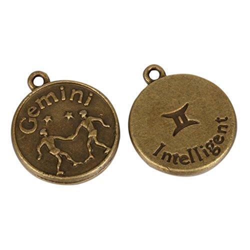 5-x-gemini-zodiac-horoscope-intelligent-charms-beads-18mm-antique-bronze-tone-for-charms-bracelet-ne