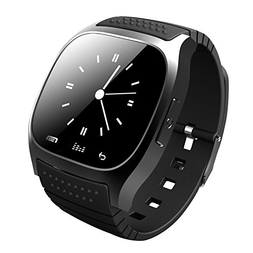 Soyan New M26 Bluetooth Smart Wrist Watch Phone Suitable for Android Phones(Full functions),For Iphone(Partial functions) (Black)