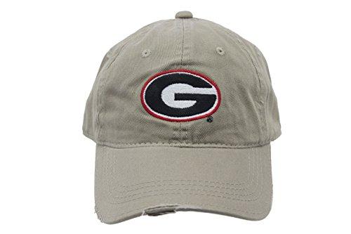 Signatures Men's Fashion Georgia Bulldogs Distressed Khaki Cap (Cap Bulldog compare prices)