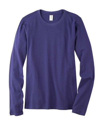 Econscious Ec3500 Ladies Cotton Long Sleeve T Shirt. - Iris - L front-550124