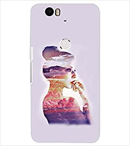 PrintDhaba GIRL SHADE D-6365 Back Case Cover for HUAWEI NEXUS 6P (Multi-Coloured)