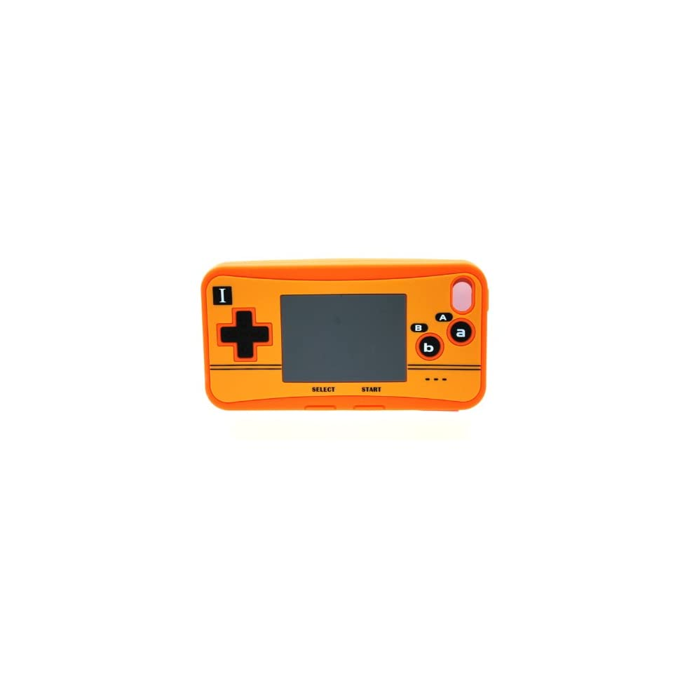 Orange Nintendo Control Design Soft Silicone Skin Gel Cover Case for Verizon Att Sprint Iphone 4 4S + Microfiber Pouch Bag + Lcd Screen Guard