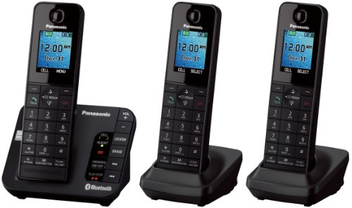 Deals on Panasonic KX-TGH263B Link2Cell Phone System w/3 Cordless Handsets