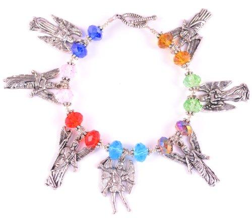 7 Archangels Bracelet Seven Archangels Colorful Catholic Charm Bracelet Rainbow