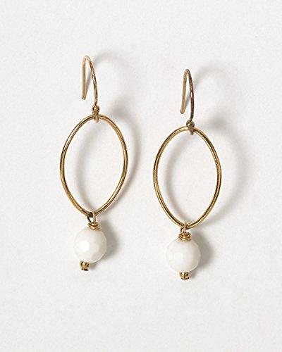 Stone Oval Earring