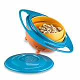 #6: Inovera Creative Baby Feeding Bowl Toy Non Spill Universal Gyro Bowl Dish 360 Rotate Funny Gift,Assorted Colour