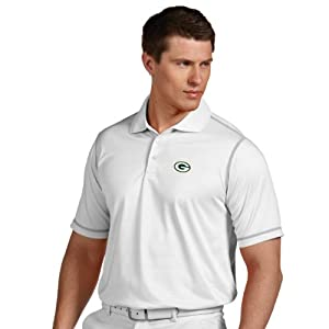NFL Green Bay Packers Mens Icon Desert Dry Polo by Antigua