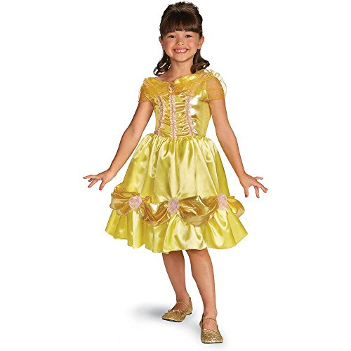 Disguise Disney Beauty and The Beast Belle Sparkle Classic Girls Costume, 7-8