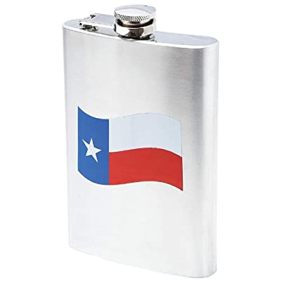 Maxam KTFLKMT8 Maxam 8Oz Ss Flask Texas Flag