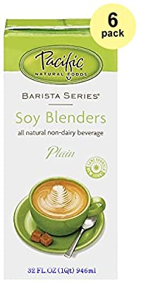 Pacific Natural Foods Barista Series Soy Blenders, Plain, 32-ounce Containers (6-pack) from Pacific Foods or Oregon