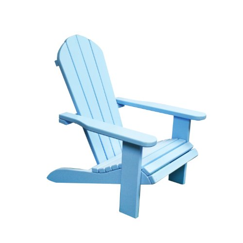 Newco International Kids Wooden Outdoor Chair, Blue